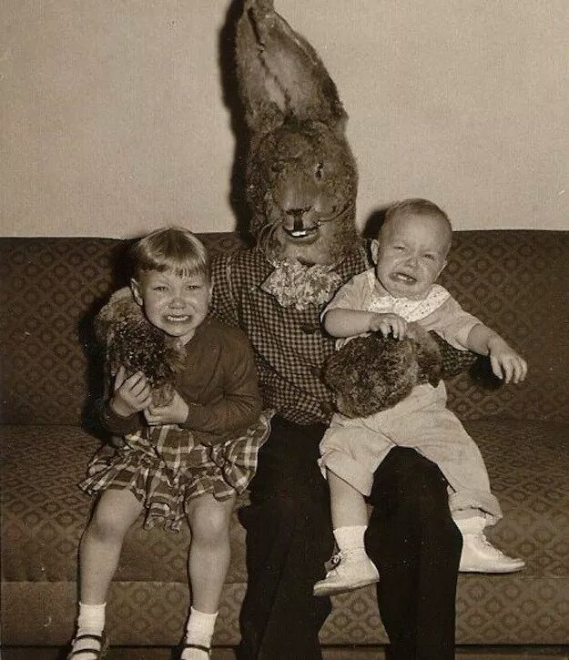 The Best Pictures Of Creepy Easter Bunnies Scaring The Chocolate ...