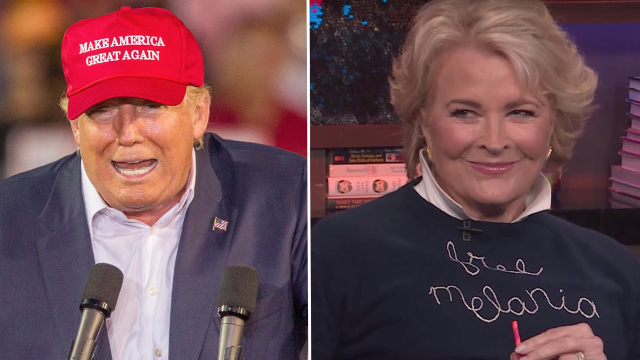 Candice Bergen Describes Her Very Color-Coordinated Date With Donald Trump