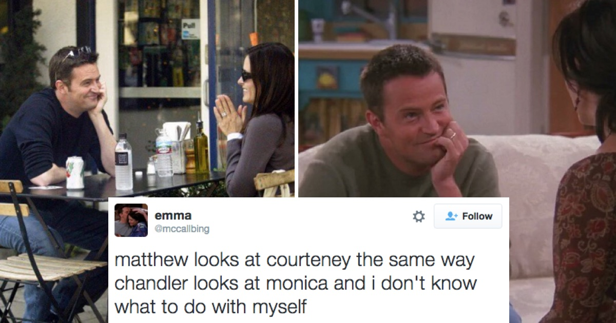chandler and monica dating in real life 'friends' fans are calling it a christmas miracle, but we're sad to say that monica and chandler aren't dating irl.