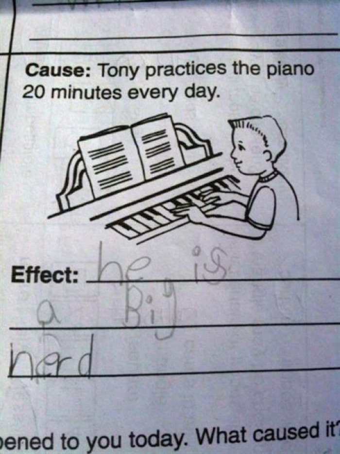 Ah, yes, the Piano-Nerd principle.
