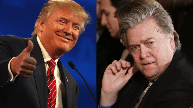Donald Trump tweets Steve Bannon send-off from White House