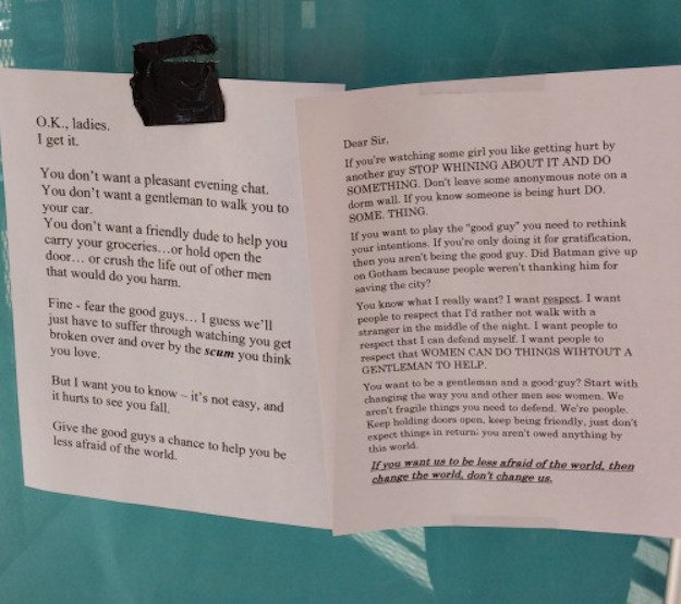 A guy posted a letter asking why girls don't like 'good ...