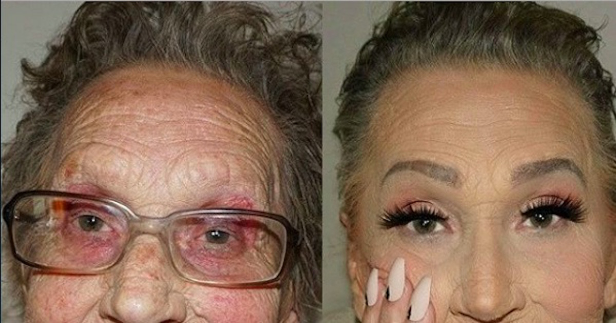 Old lady makeup