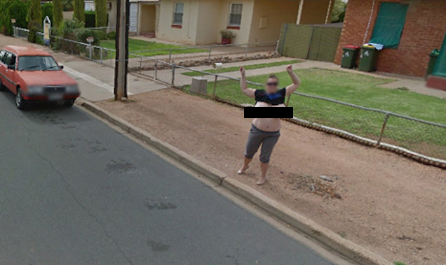 Woman Flashes K-Sized Breasts at Google Maps Street View