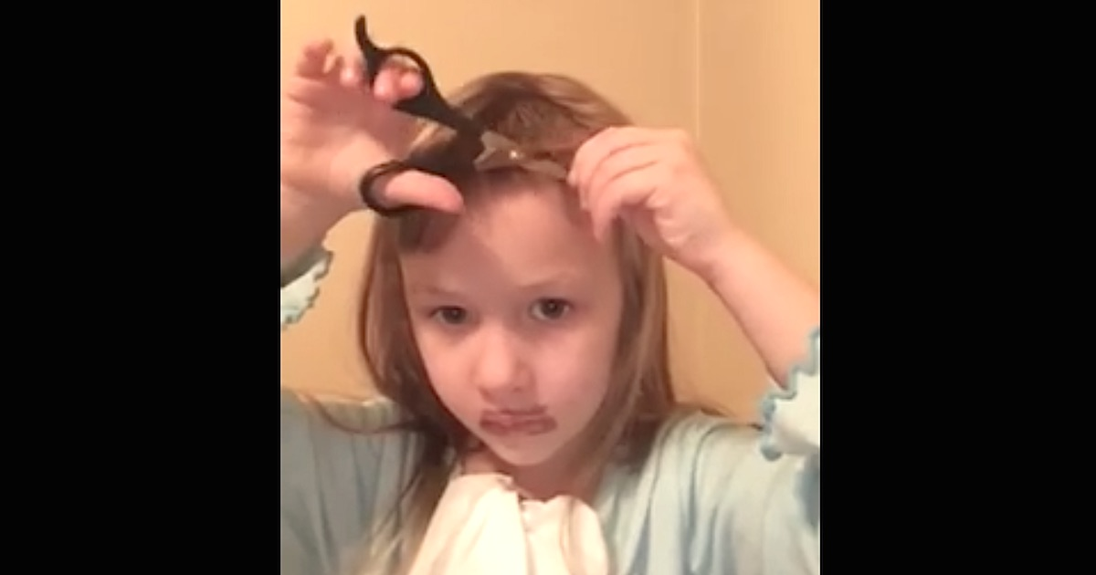 This Little Girl Giving Herself A Haircut Will Remind You