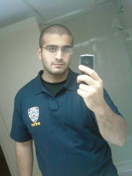 A selfie from Mateen's MySpace page. Yes, MySpace. He loved a uniform.
