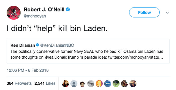 The SEAL who shot bin Laden rained on Trump's military parade