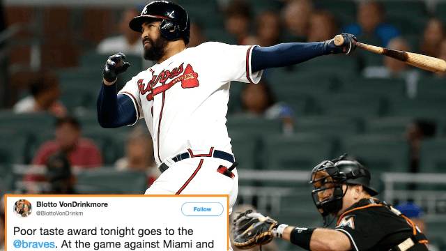 Braves apologize for poor 'hurricane' music choice against Marlins