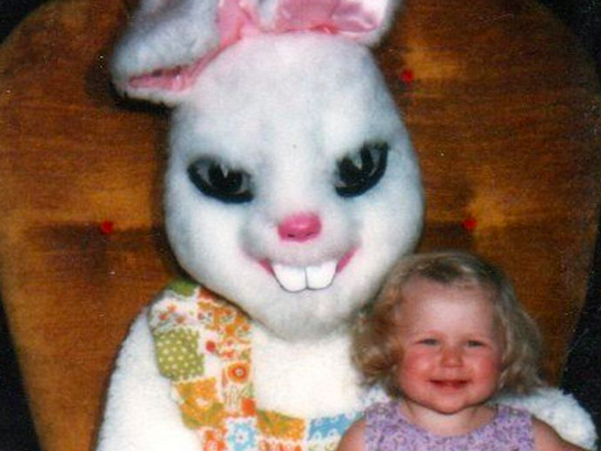 47 Easter Bunnies more terrifying than a crucified man coming back from the dead.