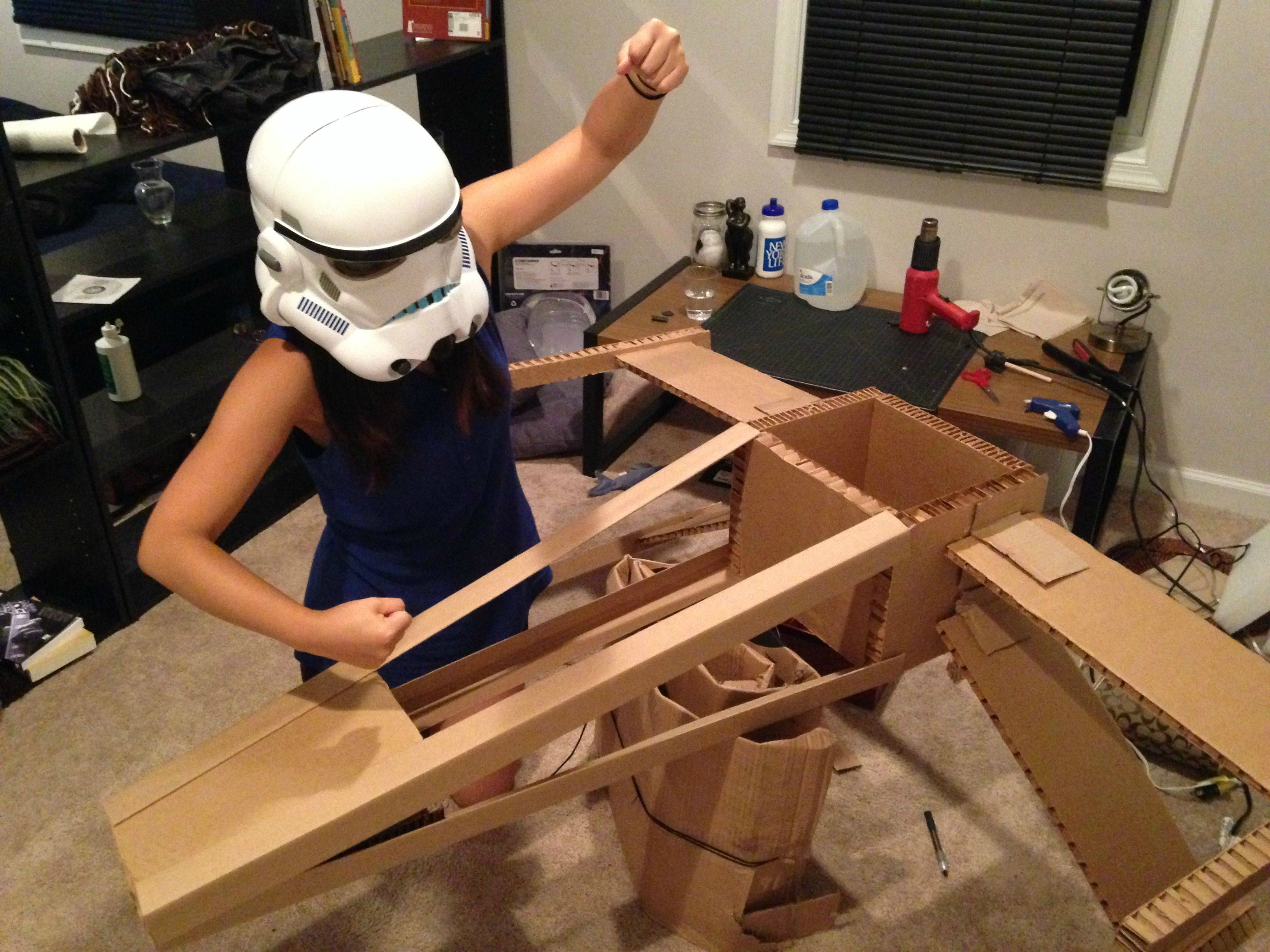 how to make an x-wing out of cardboard