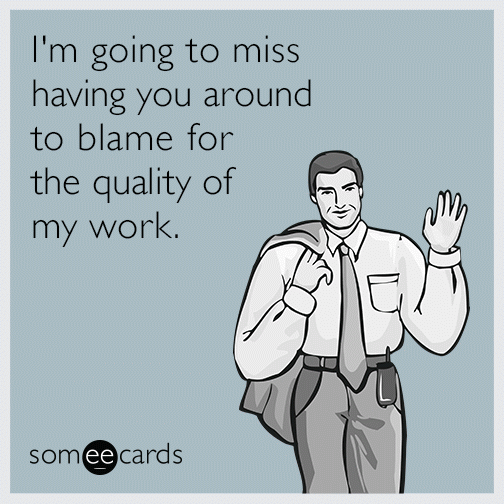 good bye co worker ecard | just b.CAUSE
