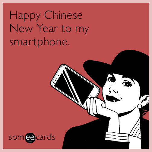 Happy Chinese New Year to my smartphone.
