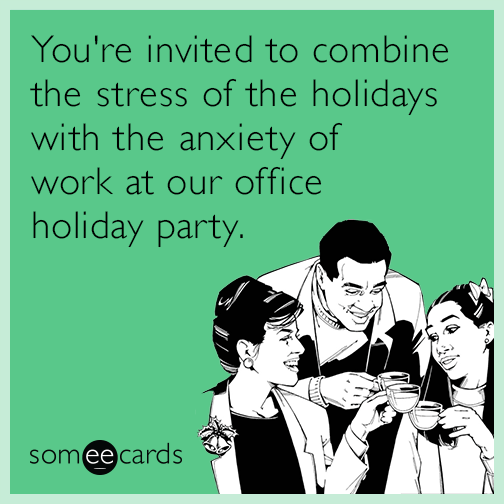 Funny Christmas Party Quotes And Sayings: Trying To Conceal My Alcohol Problem At The Office Holiday