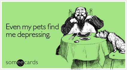 someecards.com - Even my pets find me depressing
