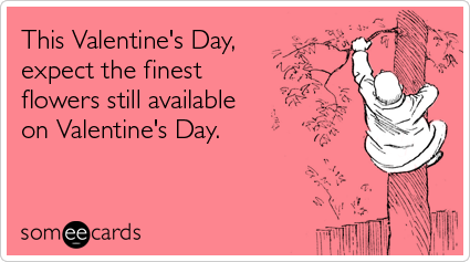 someecards.com - This Valentine's Day, expect the finest flowers still available on Valentine's Day