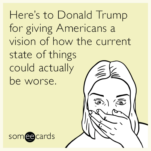 Here's to Donald Trump for giving Americans a vision of ...