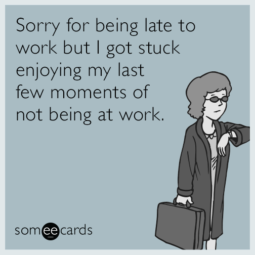 Funny Late For Work Meme : Pity party of one let me play my violin lol