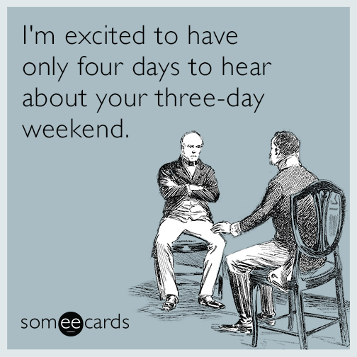 Long weekend funny cartoon quote