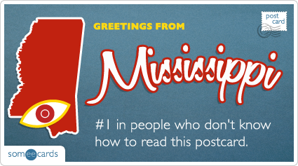 someecards.com - #1 in people who don't know how to read this postcard.