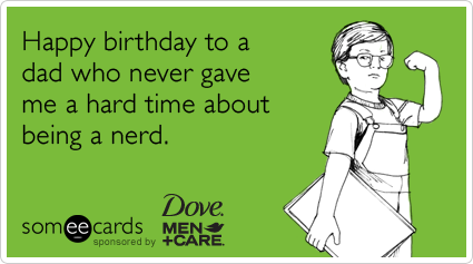 download this Funny Dove Men Care Ecard Happy Birthday Dad Who Never Gave picture