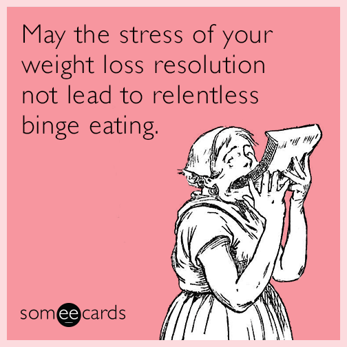 Funny Weight New Year Resolution Cards 2018 ~ The Best Collection .