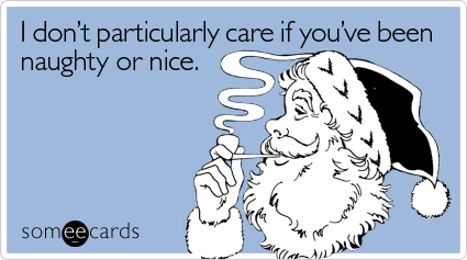 someecards.com - I don't particularly care if you've been naughty or nice