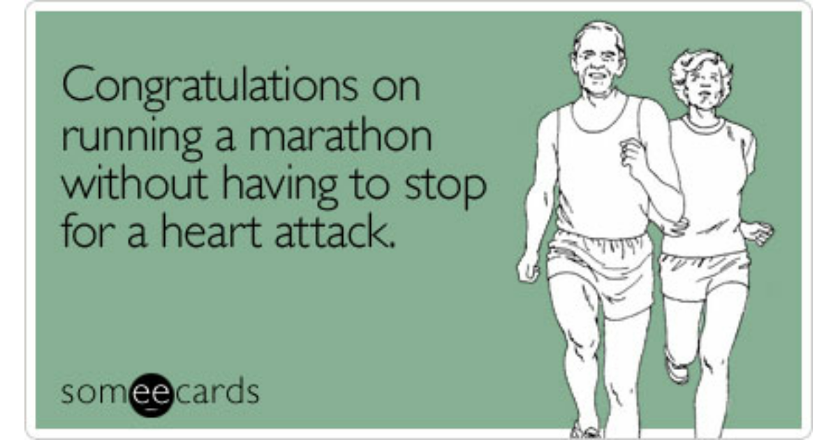 Marathon Run Runner Nyc   Miles Finish Congratulations Ecard