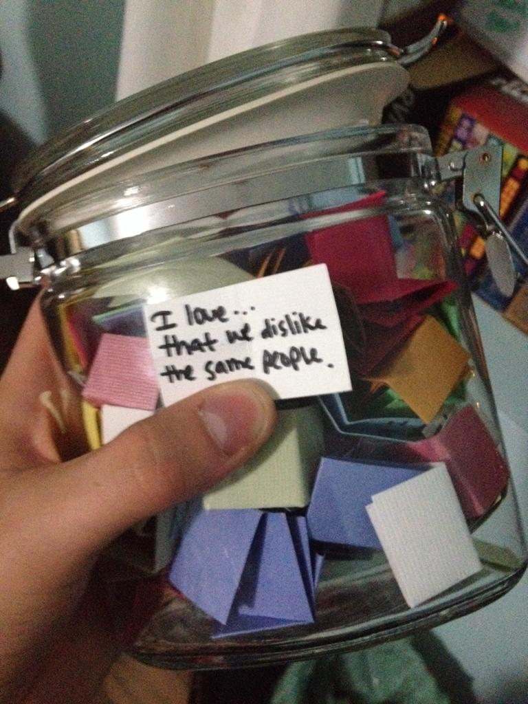 A Girl Made A Jar Of 101 Terrible Things She Loved About