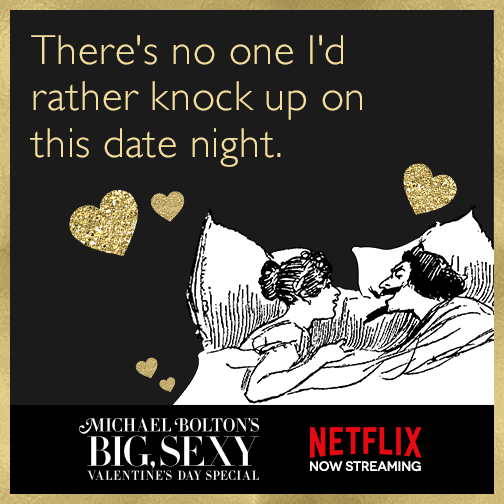 There's no one I'd rather knock up on this date night.