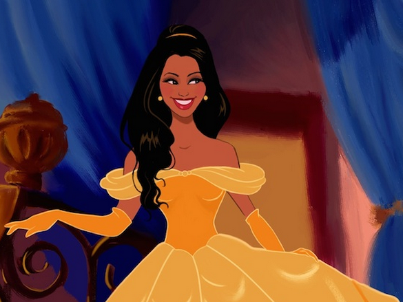 This guy had his girlfriend drawn as all the Disney princesses for V-Day and made us single people feel like Ursula.