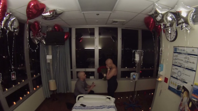 A guy proposing to his girlfriend on her last day of chemo is one of the most romantic things to happen in a hospital.
