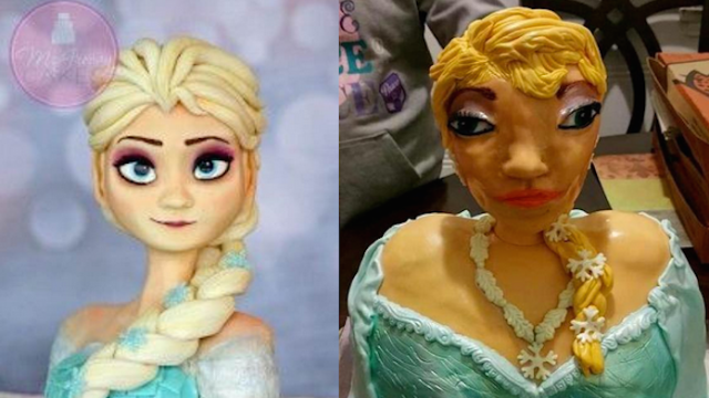 We're all pieces of sh*t for laughing at that Elsa cake, even though it's very, very funny.