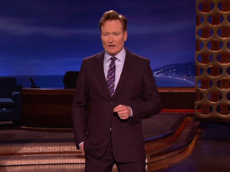 Conan O'Brien got serious on last night's show to address the attack on Charlie Hebdo and comedy in general.