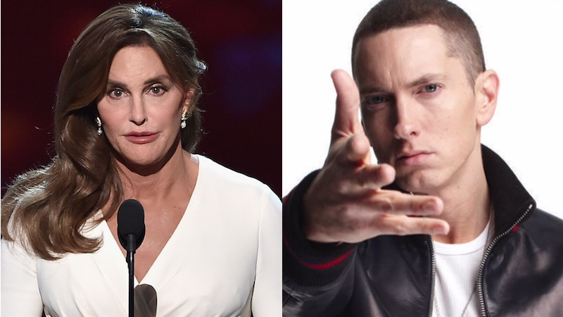 Eminem rapped mockingly about Caitlyn Jenner to remind us all that he's edgy.