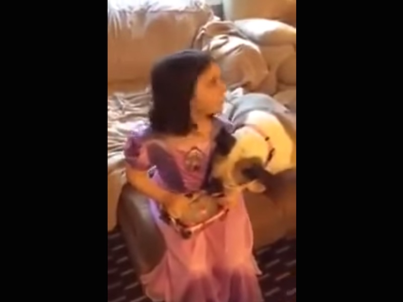 Dad pranks daughter with literal Frozen doll.