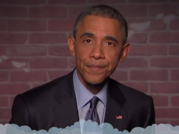 President Obama reads mean tweets about himself on 'Jimmy Kimmel Live.'