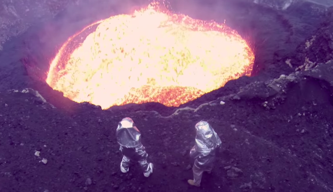 Brave drones sacrificed their lives to bring you awesome volcano footage.