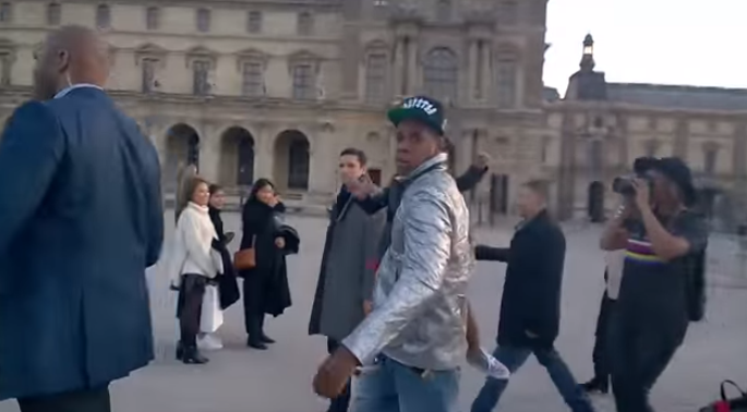 Jay Z gives the perfect answer to a French dude with a camera asking who he is.
