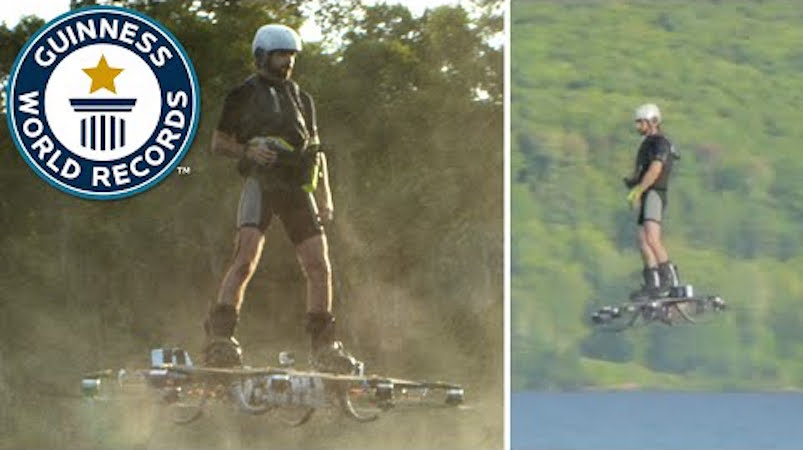 The world record for hoverboard flight has been set and I didn't even know hoverboards existed.