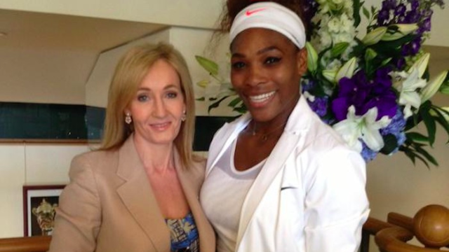 J.K. Rowling perfectly responded to a moron who criticized Serena Williams on Twitter.