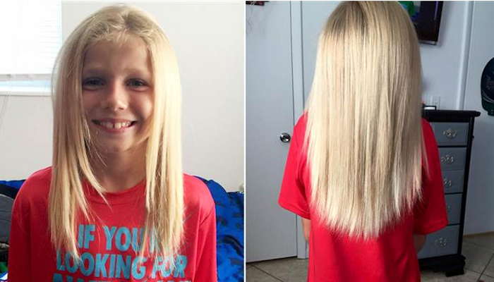 This 8-year-old boy has been growing his hair out for 2 years for the most selfless reason.