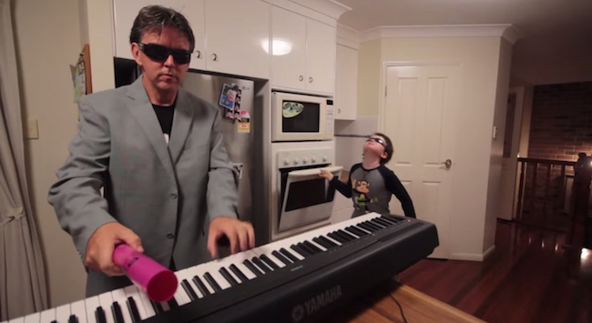 The Internet's favorite dad-son kitchen band plays the Internet's favorite song, 'Sandstorm.'