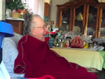 Seeing how much this grandpa loves watching 'Jackass' will smack your heart in the nuts.