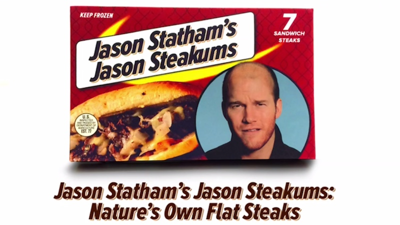 Chris Pratt imitates Jason Statham in this brilliantly dumb fake ad that never made it to air.