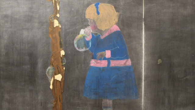 Eerie chalkboard drawings from a hundred years ago discovered in Oklahoma.