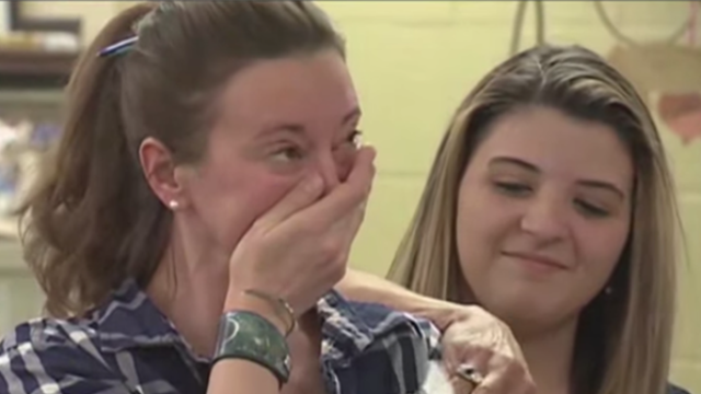 Senior class skips class trip, gives the money to principal in her moment of need.