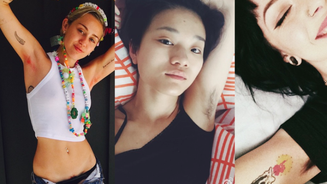 Hairy armpits for women are back in fashion, and women are proudly posting pics all over social media.