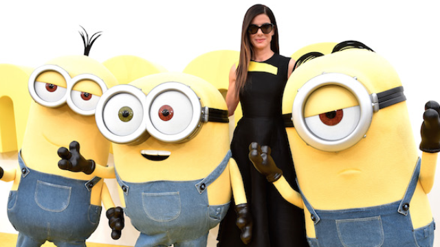"""Sandra Bullock sold these crazy """"Minions"""" shoes for a good cause, and now I like her even more."""