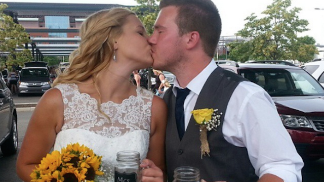 This crazy couple got married at a Taylor Swift concert, then got an awesome surprise.