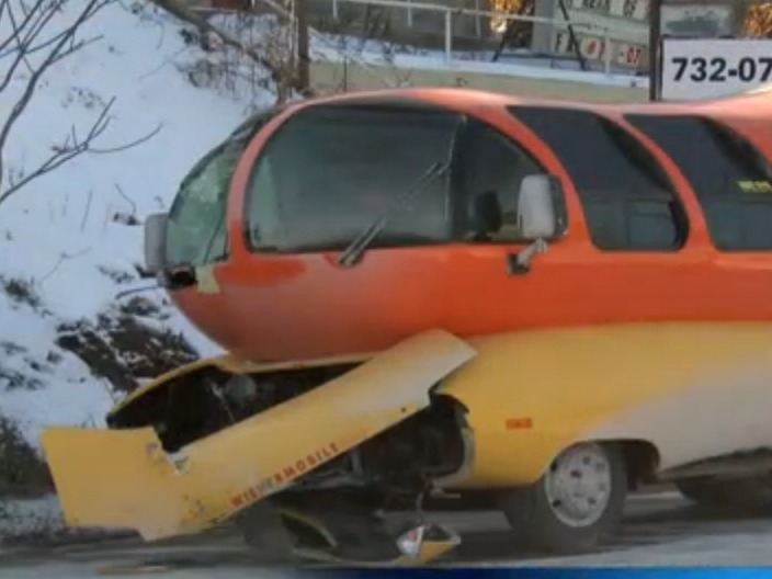 An Oscar Meyer Wienermobile failed to perform today due to cold weather.